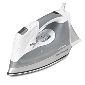 Black & Decker D2030 Auto-Off Digital Advantage Iron, White