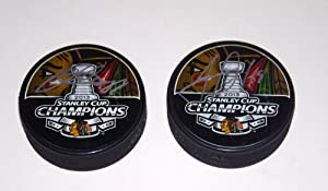 Buy Patrick Kane & Jonathan Toews Signed 2013 Stanley Cup Pucks Authenticated by Frameworth Sports... by #1 Sports