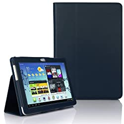 Samsung Galaxy TAB 2 10.1 P5100 - (BLUE) Leather Case Cover and Flip Stand Typing Case Wallet Plus Free Stylus Pen+ Screen Protector