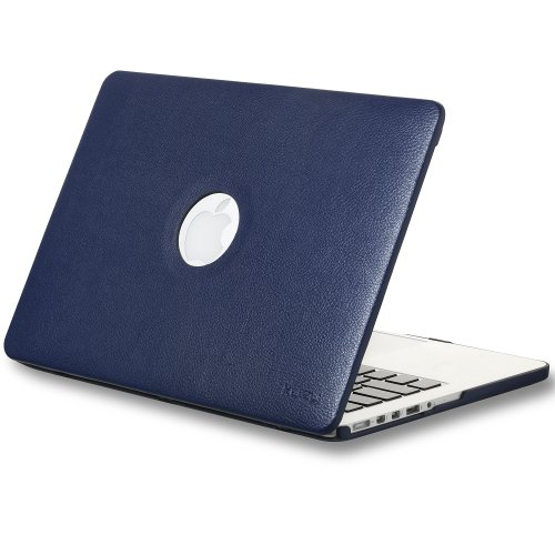 Review:  Kuzy - Retina 13-Inch Navy BLUE LEATHER Hard Case for MacBook Pro 13.3