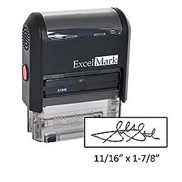 Custom Signature Stamp - Self Inking - Black Ink (Small)
