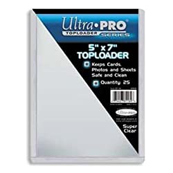 Ultra-Pro 5X7 Top Loaders - 25 Per Pack (Quantity of 100)