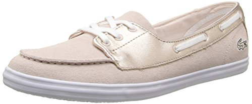 Lacoste Women's Ziane Deck 116 1 Fashion Sneaker, Pink, 8 M US