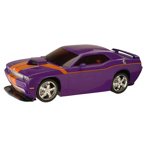 Maxx'd Out 1:10 Scale Radio Control Car - Dodge Challenger - Purple with Orange Stripe