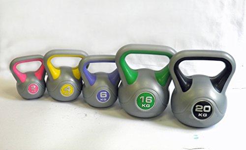 Vinyl Kettlebell Kugelhantel Kugelgewicht Handgewicht Schwungkugel 2 4 6 8 10 12 16 20 kg Kunststoff