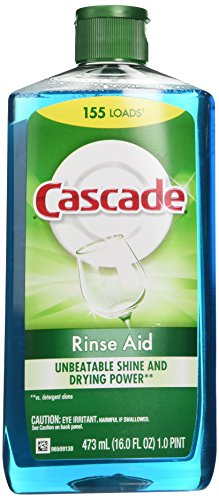 Cascade Rinse Aid, Dishwasher Rinse Agent, Original Scent, 16 Fl Oz (Dishwasher Aid compare prices)