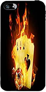 Snoogg Triple ace fire Hard Back Case Cover Shield ForApple Iphone 5 / 5s