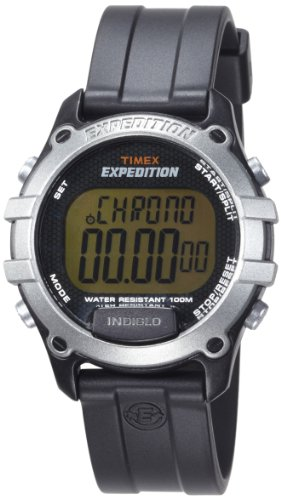 Timex Men's T49753 Expedition CAT Digital Watch Black Resin Strap Watch