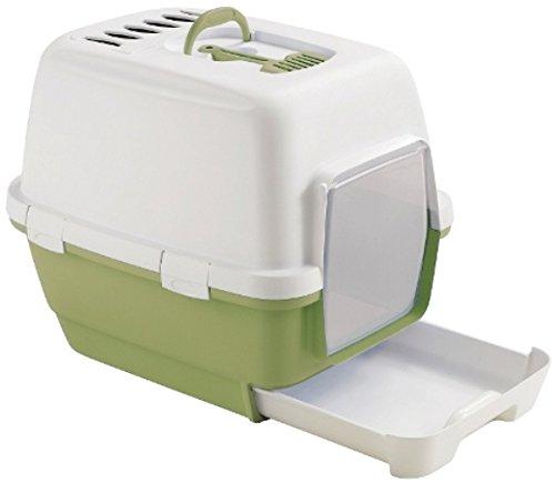 toilette-lettiera-per-gatti-cathy-clever-smart-con-paletta-e-filtro-al-carbone-attivo-inclusi-cm-58x