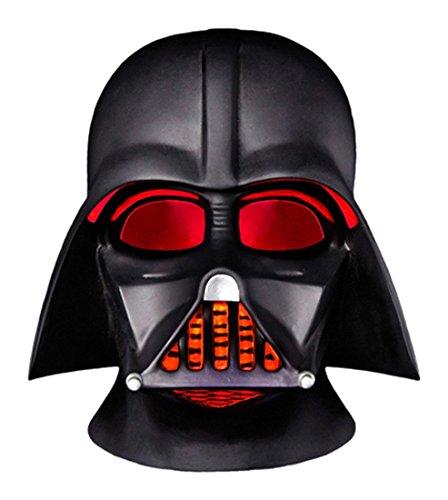 Groovy Gr90669 Elmetto Completo Darth Vader Star Wars Lampada Led Da Scrivania Con Funzionamento A Batteria, Plastica, Nero, 15 X 16 X 15 Cm