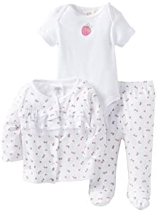 ABSORBA Baby-Girls born Cherry Bodysuit And Footed Pan Set With Knit Top from ABSORBA