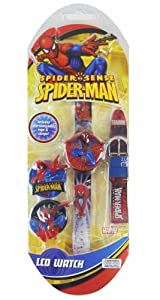 Spiderman Boys LCD Watch  - Spiderman Watch w/ interchangeable tops and straps