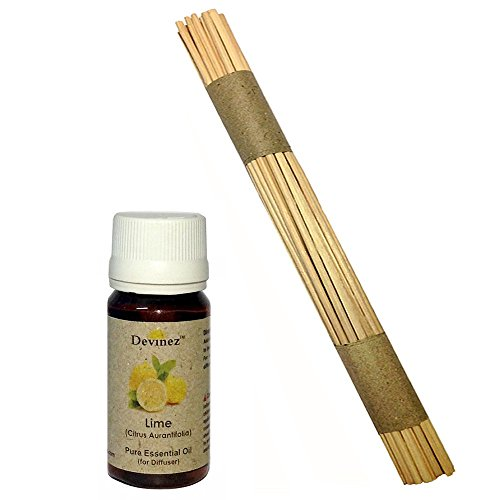Devinez Premium Reed Sticks/ Refill Pack For Reed Diffusers 10 Inches (100 Sticks) With Free 15ml Lemon Oil For...