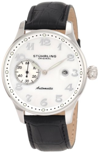 Stuhrling Original Men's 148.33152 Classic Heritage Automatic Mother Of Pearl Date Watch