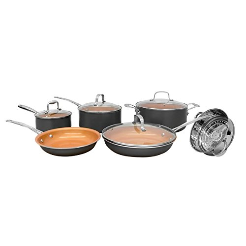 Gotham Steel 10-Piece Kitchen Nonstick Ti-Cerama Frying Pan and Cookware Set