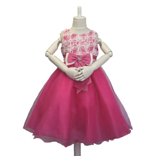 子供ドレス d-0033 ホワイトとピンクのダブルリボン ストレスフリー子どもドレス 発表会 子供ドレス ((12)140-150cm 肩幅26cm 胸囲68cm 胴囲64cm 身丈25cm 総丈74m)