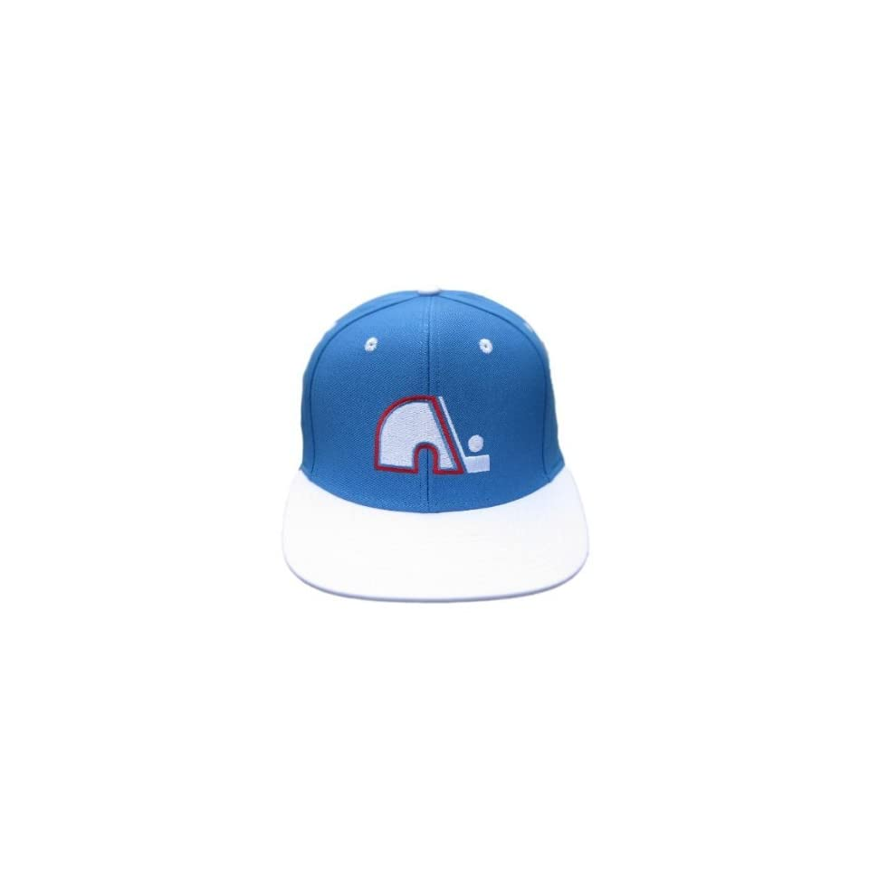 4127f2ffa12 Throwback Retro NHL Quebec Nordiques Vintage Hat Cap Blue   White on ...