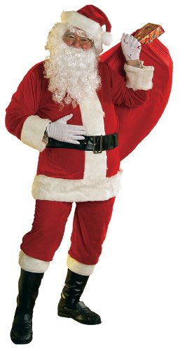 Rubie's Costume 8-Piece Velour Santa Suit Costume