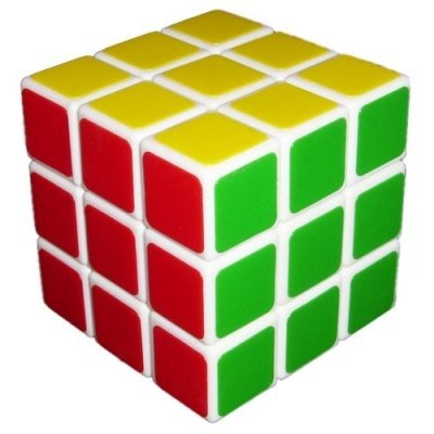 White Fangshi Shuang Ren 3x3x3 Cube Puzzle