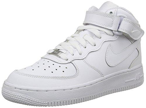 Nike Air Force 1 (Gs) 314195 Scarpe Sportive da Bambini E Ragazzi, Colore Bianco (113 White/White), Taglia 39 EU (6 UK)