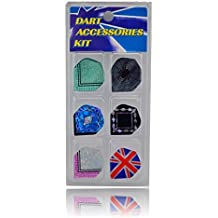 1Swish 3D Laser Standard Dimplex Dart Flights - Heavy Duty And Assorted For Steel Or Soft Tip Darts - 6 Sets 18...