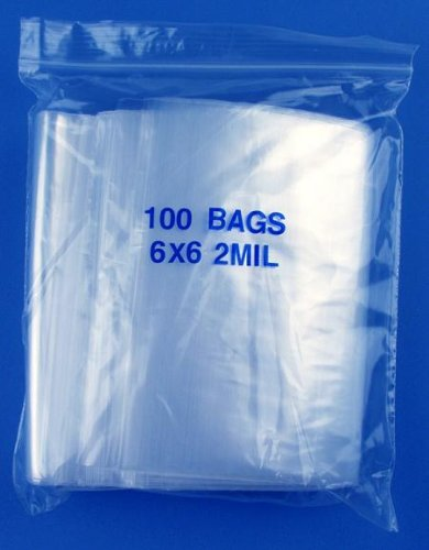 """Collecting Warehouse 6"""" x 6"""", 2 Mil Clear Zip Lock Bags, 5 Packs of 100 at Sears.com"""