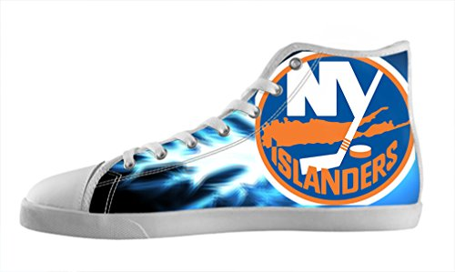 BUCH Hockey NHL New York Islanders Women's Canvas Shoes Lace-up High-top Sneakers Nonslip Shoes