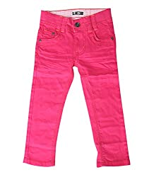Bedazzle Regular Fit Girl's Pink Jeans