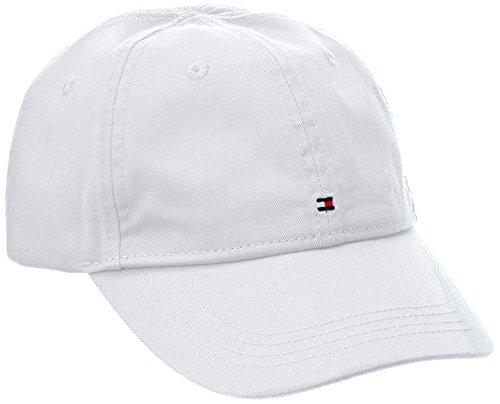 Tommy Hilfiger BASIC CAP-Cappello Bambino, Bianco (CLASSIC WHITE 100), 24 mesi