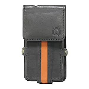 J CoverA6 Nillofer Series Leather Pouch Holster Case For Samsung Galaxy J1 Ace Neo Black Orange