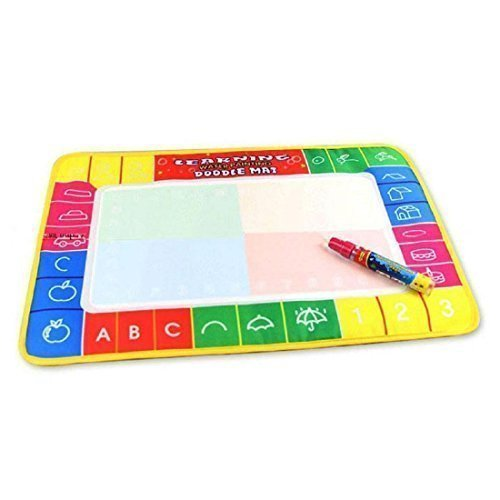 Zerowin Small Magic Pen Doodle Toy Gift Water Drawing Painting Mat Board, 29x19cm (A4 Paper Size)