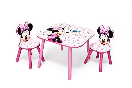 Minnie-Maus-Kindertisch-Sthle-Kinder-Spieltisch-Kindermbel-Mdchenzimmer-Kleinmbel