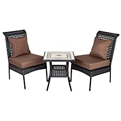 Sonoran All Weather Wicker 3pc. Bistro Set