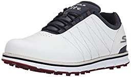 Skechers Performance Men\'s Go Golf Tour Elite Walking Shoe, White/Navy/Red, 10.5 2E US