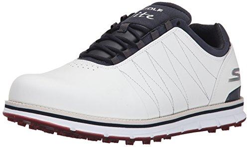 Skechers Performance Men's Go Golf Tour Elite Walking Shoe, White/Navy/Red, 13 2E US