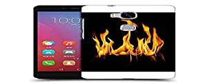 Snoogg Fire Designer Protective Back Case Cover For HUAWEI HONOR 5X