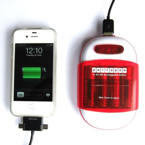 PortaPow 4x AA/AAA USB Battery Charger and Power Bank