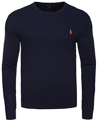 Maglione Uomo POLO RALPH LAUREN Blu Nero Azzurro cotone pullover sweater (L, Blu scuro)