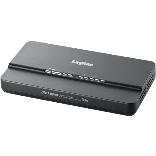 Logitec ギガビットイーサネット対応スイッチングHUB 電源外付け 8ポート 省電力機能「ロジエコ」搭載 LAN-GSW08/PC
