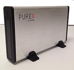 PUREX Technology USB3.0 to 3.5 Inch SATA External HDD Enclosure