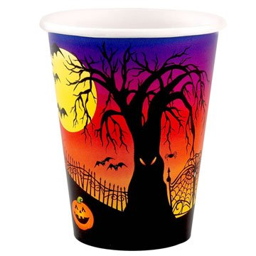 Haunted Hill 9 oz Paper Cups (8 count) - 1