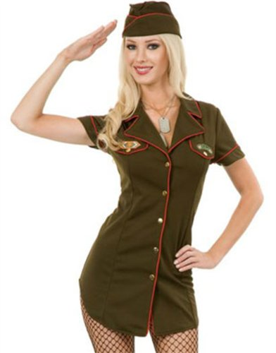 Charades Costumes - Army Babe Adult Costume