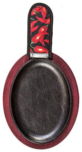 带木质底座,Lodge LFSR3 无烟不粘 7-10寸铸铁平底锅图片