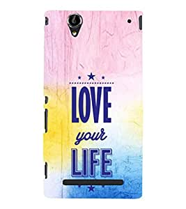 EPICCASE Love your Life Mobile Back Case Cover For Sony Xperia T2 (Designer Case)