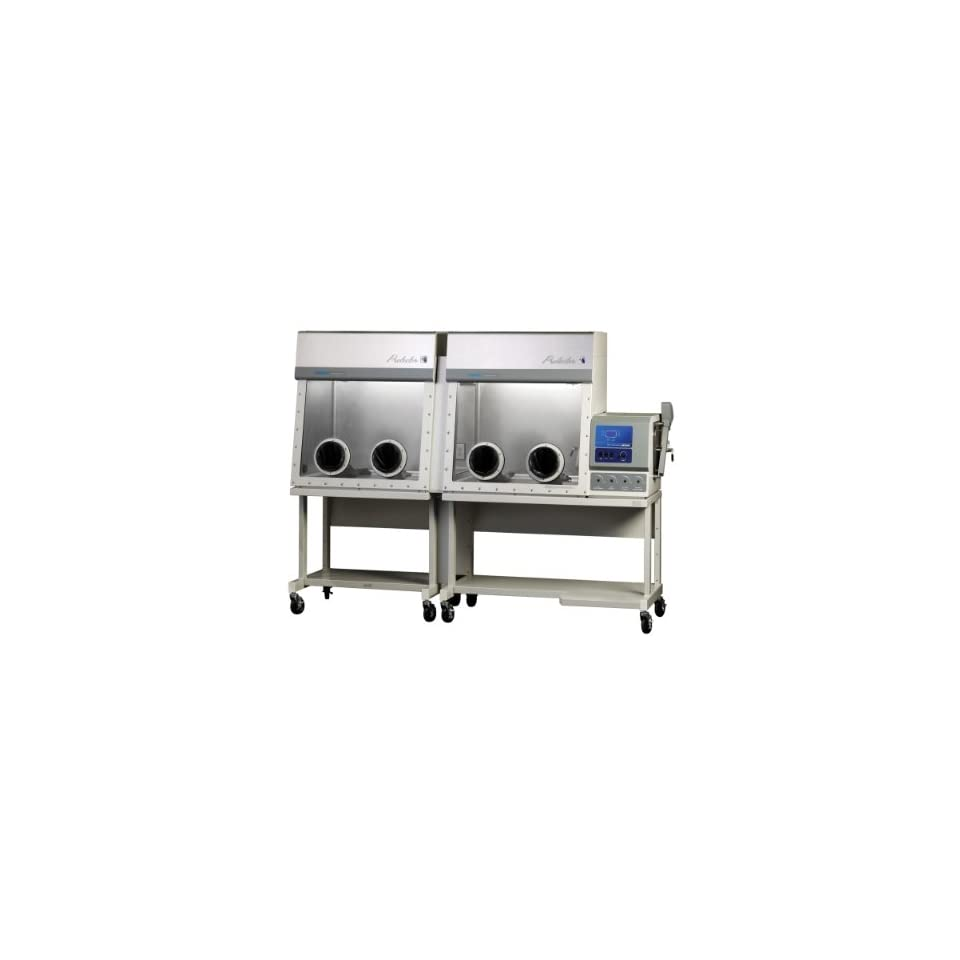 Labconco Protector 5080137 Stainless Steel Double Controlled Atmosphere Glove Box with Auto Pressure Control and Schuko Power Coprd and Plug, International, 208 230 Volts, 50/60 Hz, 108.9 W x 34.4 D x 45.7 H