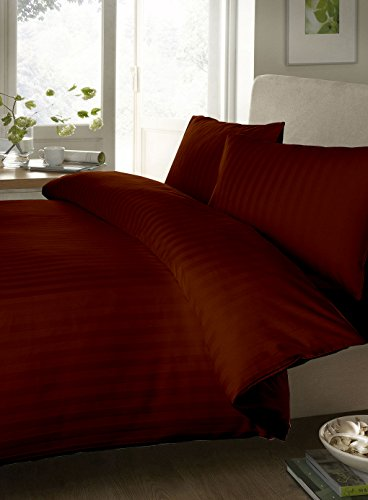 Egyptian Cotton Sheet Set 300 Thread Count Stripe (Standard-Size Pillowcases , Chocolate) By Bedding Spa front-449821
