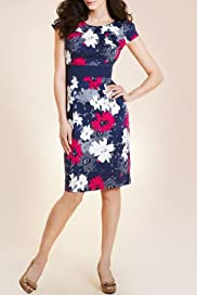 Per Una Cotton Rich Floral Print Shift Dress [T62-6311I-S-NWIT]