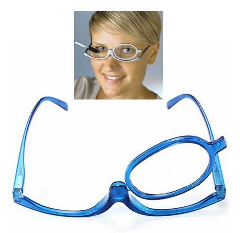 Blue Magnifying Glasses Makeup Reading Glass Folding Eyeglasses Cosmetic Degrees range: +3.0 by STCorps7 (Eyeglasses Insert compare prices)