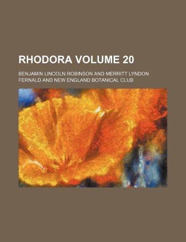 Rhodora Volume 20
