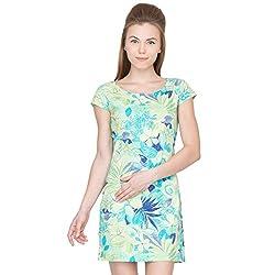 Species Women's A-line Dress (W-012_Green_X-Large)